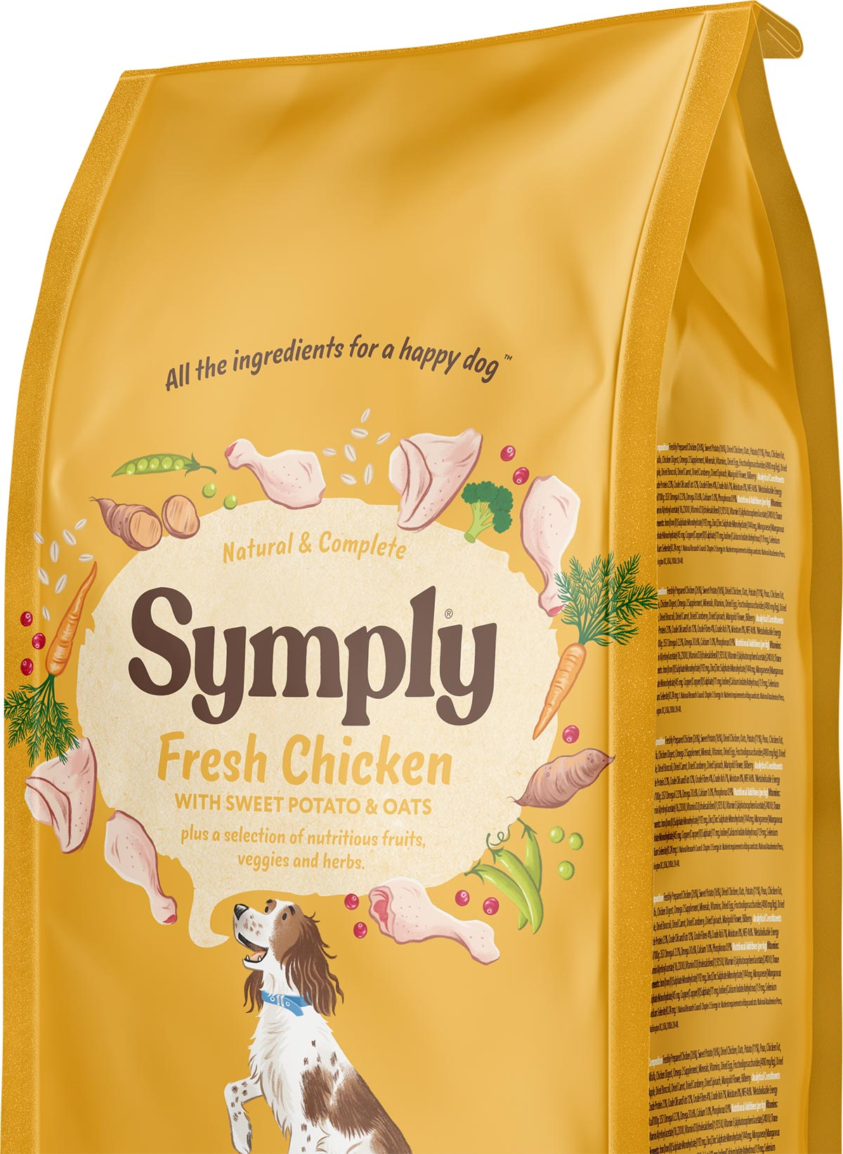 Symply dry food recyclable packaging